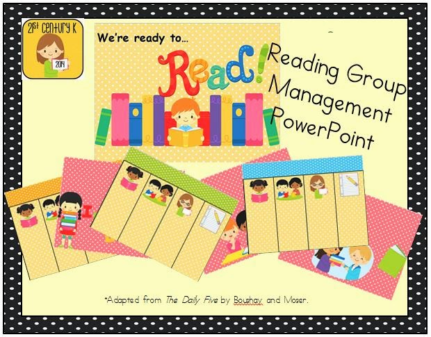 http://www.teacherspayteachers.com/Product/Reading-Group-Managment-PowerPoint-FREEBIE-1442090