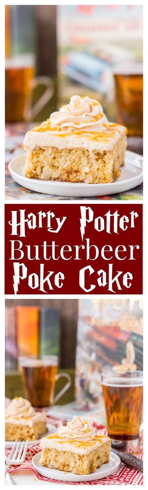 Harry Potter Butterbeer Poke Cake