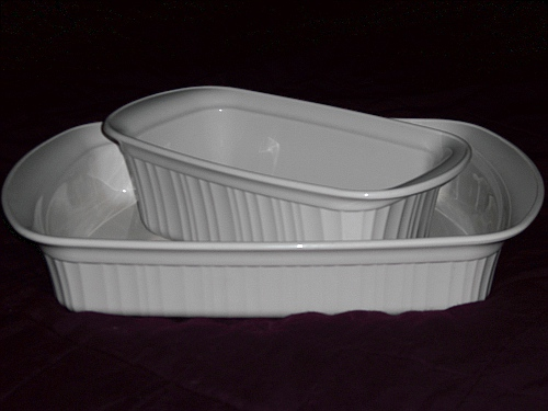 Corningware 411 Fortuitous French White Finds Square