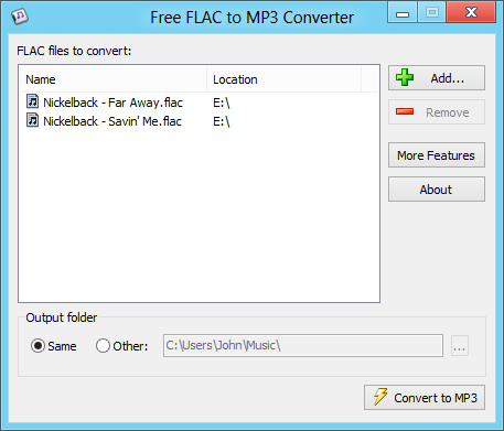 Free FLAC to MP3 Converter
