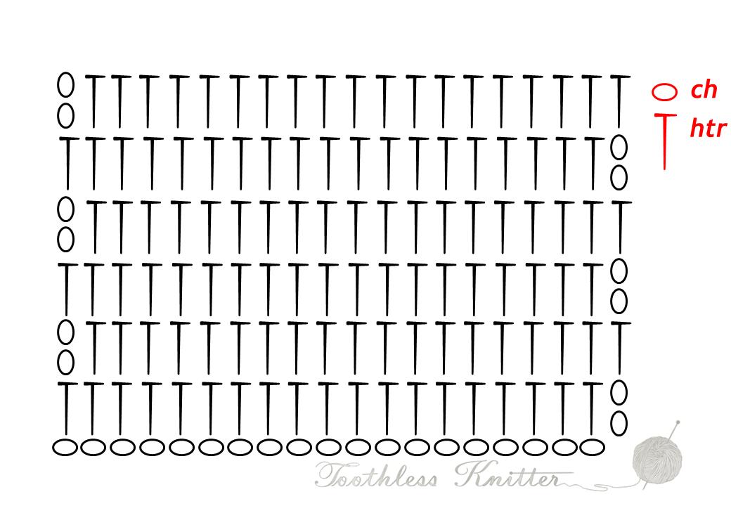 Half Treble Pattern / Półsłupek Podwójny Wzór