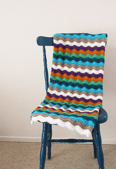 Crochet blanket: ripple stitch