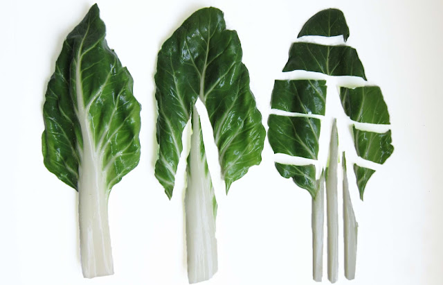 preparing bok choi for cooking