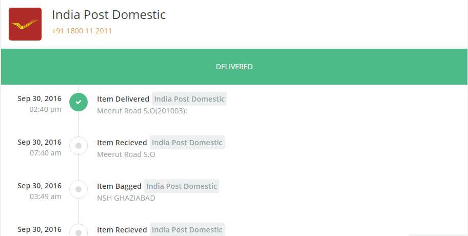 Speed Post Tracking India Using Consignment Number In
