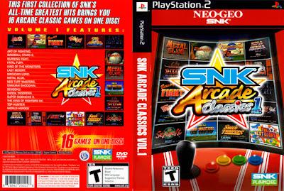 SNK Arcade Classics Vol. 1 PS2 Full ISO+Emulador DVD Capa