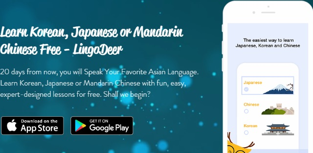 Aprende coreano, japonés y chino mandarin gratis, Learn Korean, Japanese or Chinese Free