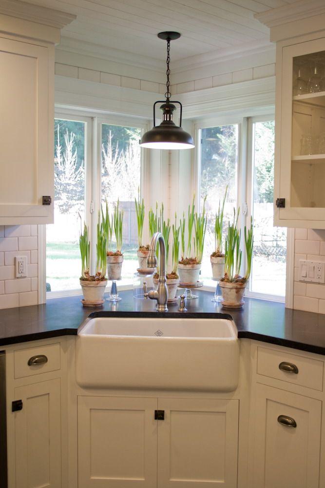 15 Cool Corner Kitchen Sink Designs   Decor Units