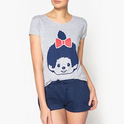 pyjama pyjashort monchhichi kiki vêtements t-shirt pas cher bon plan