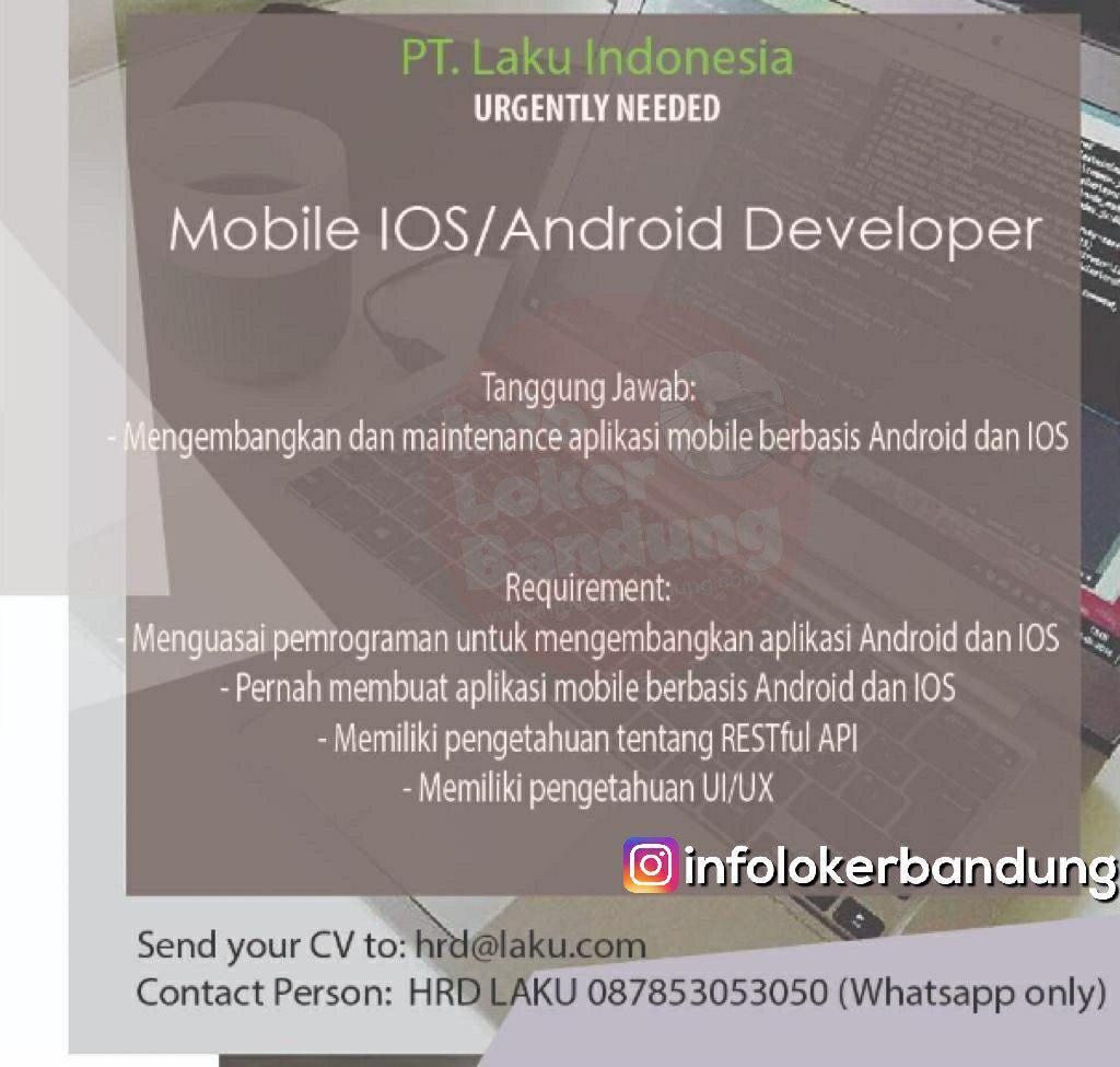 Lowongan Kerja Mobile IOS & Android Developer PT.Laku Indonesia Januari 2019