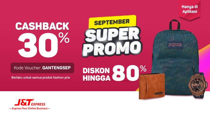 Bukalapak - Voucher September Super Promo 80% + Cashback 30% (s.d 22 Sept 2018)