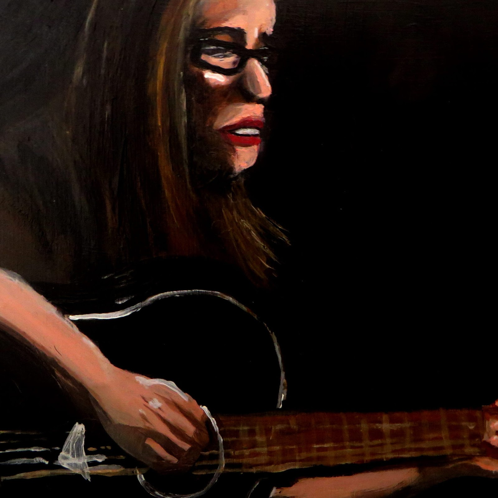Self-Portrait with Guitar