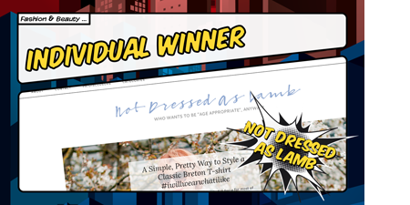 UK Blog Awards 2017 Winner Not Dressed As Lamb
