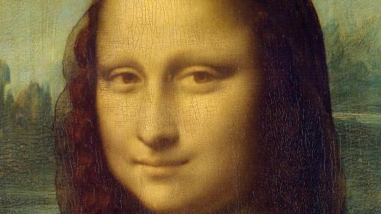 Mona Lisa (detail) by Leonardo