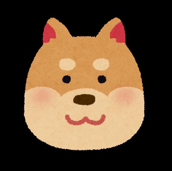 犬の顔のイラスト かわいいフリー素材集 いらすとや