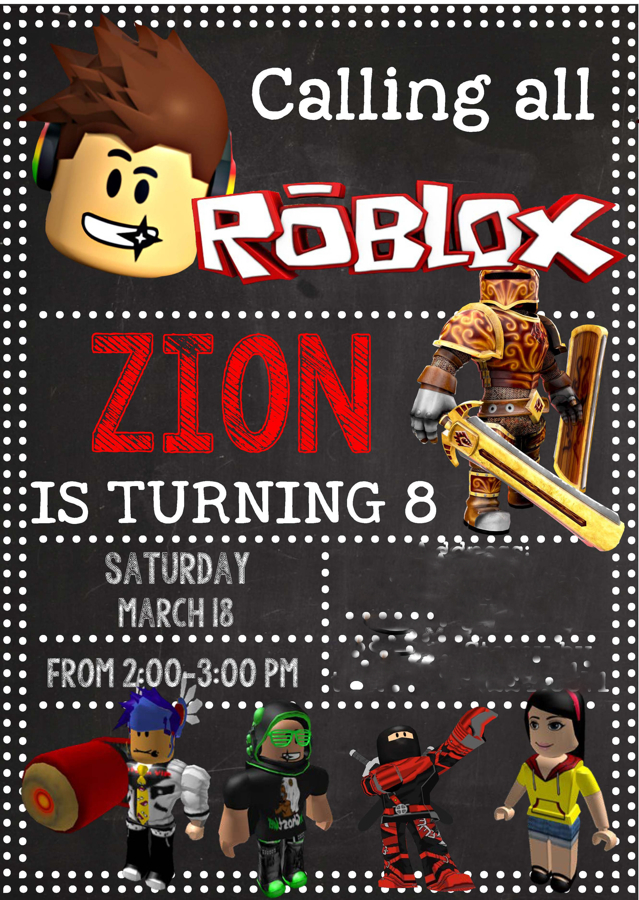 Roblox Invitation -design addict mom