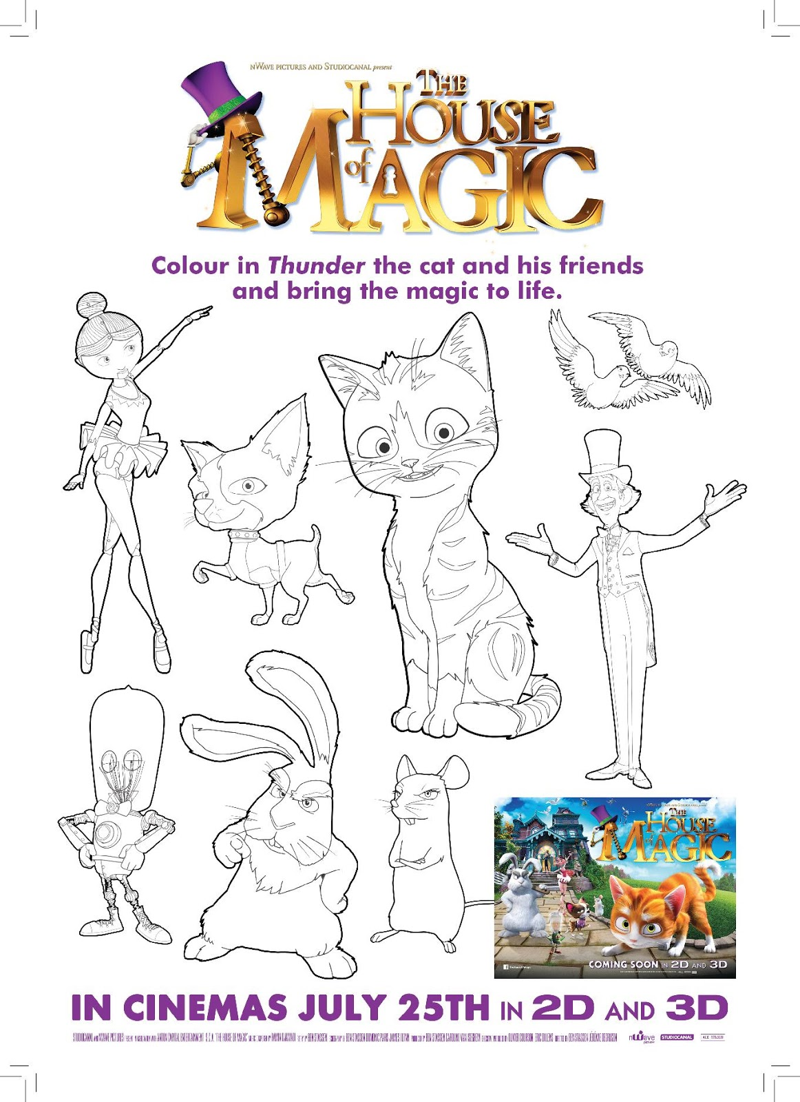 the house of magic colouring