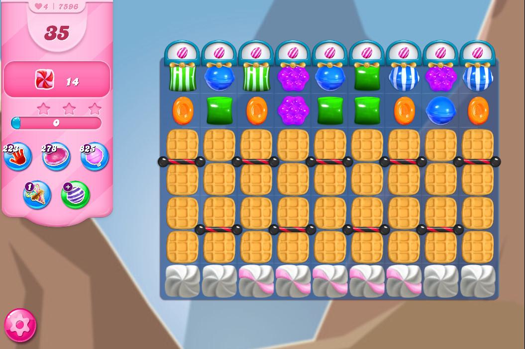 Candy Crush Saga level 7596