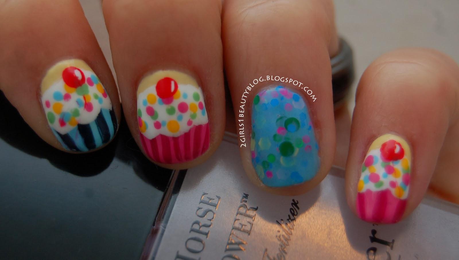 2 Girls 1 Beauty Blog Happy Birthday To Me Cupcake Nails