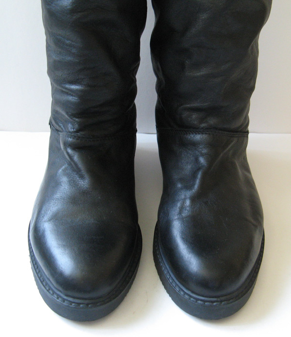 Tall Black Riding Boots Roots Canadian Womens Size 6 5
