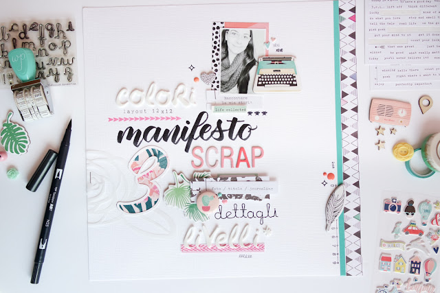 scrapbook layout | manifesto creativo di kushi www.kkushi.com
