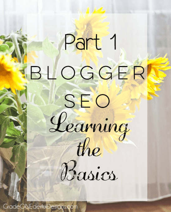 Blogger Tutorial: Learning SEO Basics, Part 1. Are you doing the basics to get your blog found? Check out this post to make sure you are. Most fixes are pretty easy to do.