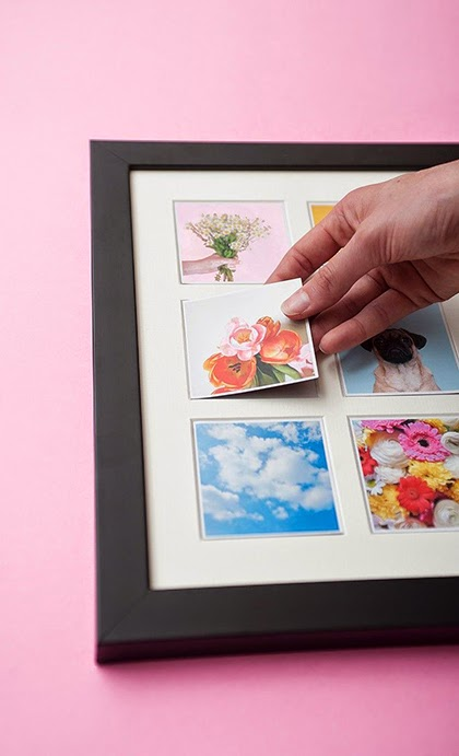 Magnetic frame allowing you to switch the little photo magnets - shewandersshefinds.com