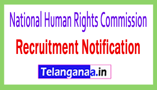 National Human Rights Commission NHRC Recruitment Notification