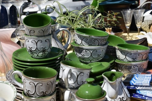 Gift ideas and gift items and novelties are many in flea markets.