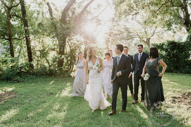 bride groom and wedding party photo