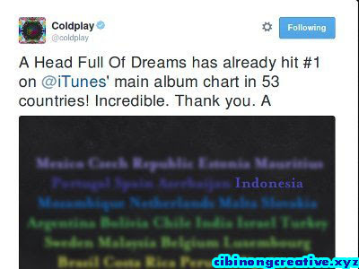 Ada Indonesia di Ucapan Terima Kasih Coldplay Soal Album Baru || There Indonesia in Acknowledgements Problem Coldplay New Album