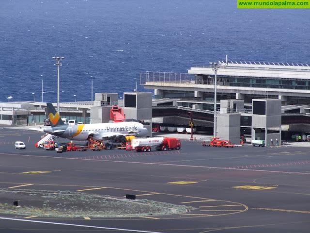 El Aeropuerto de La Palma registra en julio un 17,4% más de  pasajeros respecto al mismo mes de 2017