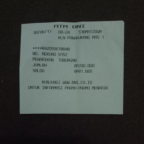 Saldo Sisa 81.665 Rupiah