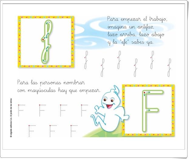 """Letra """"f"""" (El jardín de las letras. Lectoescritura. Consonantes. Algaida +)"""