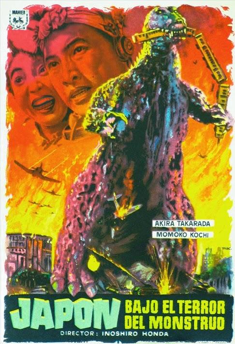 Poster Godzilla Japón bajo el terror del monstruo