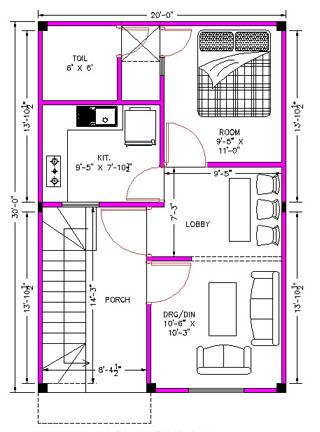 Architectural House Plans Ground Floor Plan 20 0 X 30 0
