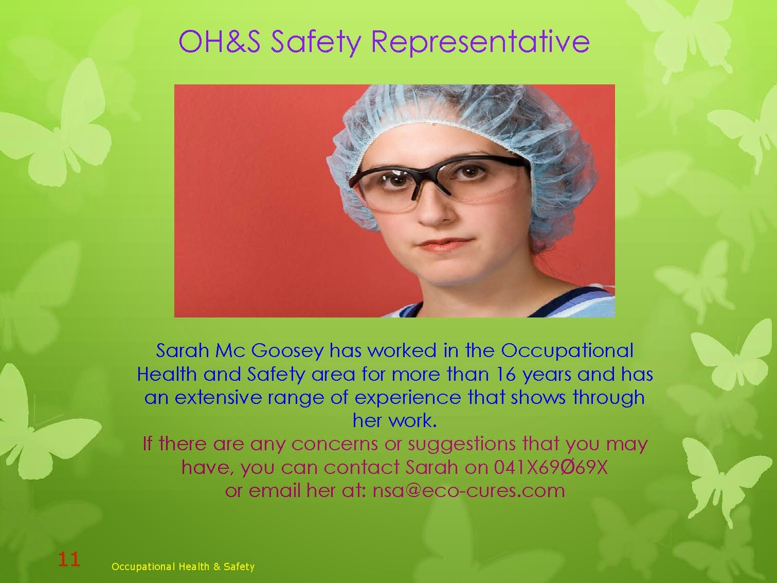 SEXY OCCUPATIONAL HEALTH AND SAFETY