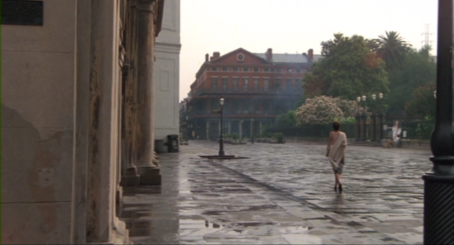 Irena (Nastassja Kinski) walks through Jackson Square in CAT PEOPLE (1982).