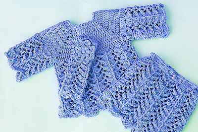 5 -Crochet IMAGEN Pantalón a juego con chambrita a crochet muy fácil y rápida. MAJOVEL CROCHET