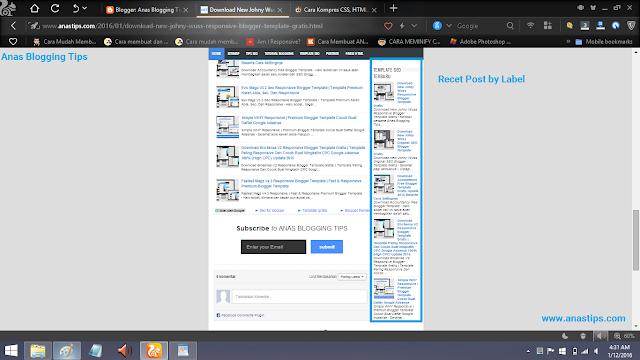 Cara Membuat Recent Post By Label Lengkap Dengan Thumbnail Untuk Blog by Anas Blogging Tips