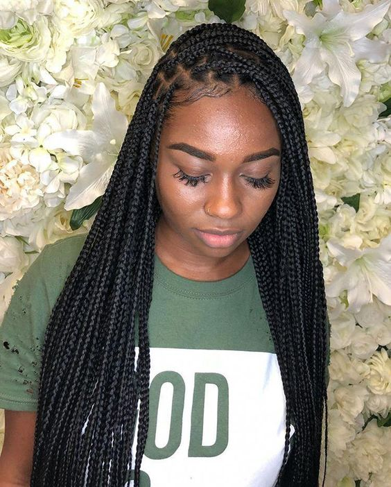 29 Trendy Black And Blonde Small Box Braids To Copy In ...