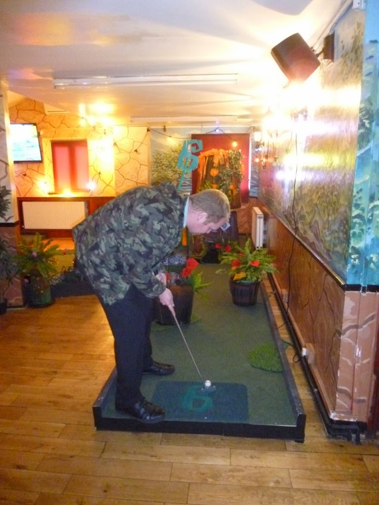 Crazy Golf in London at the Plonk Golf course at Efes Snooker Hall on Stoke Newington Road in Dalston