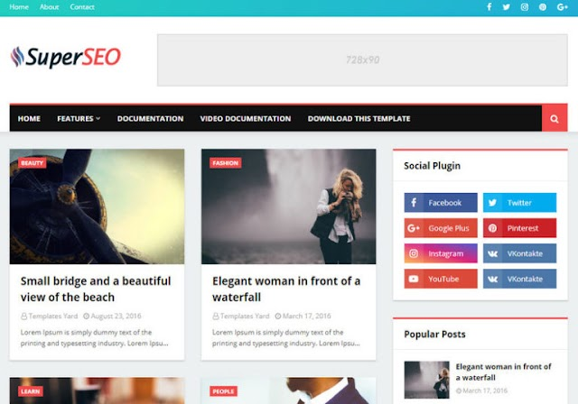 Super Seo Optimised Blogger Template  Blogspot Templates 2019
