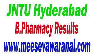 JNTU Hyderabad B.Pharmacy III Year II Sem (R09)  Supply Results