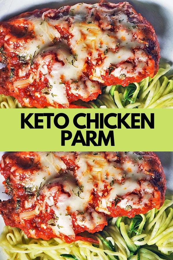 KETO CHICKEN PARM #chicken #chrunchy #keto #parmesan #porkrind