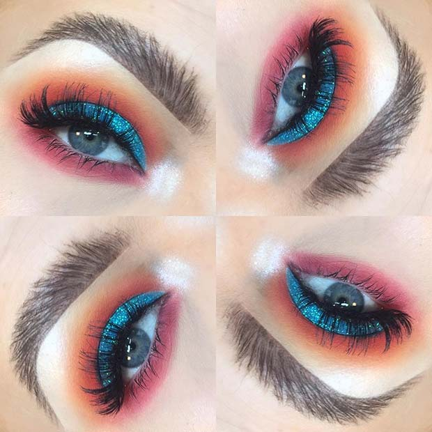 Summer is the best season once we get creative 22+ Vibrant Summer Eye Beauty Makeup Styles for 2019