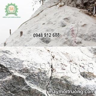 Tảng đá đã được tách