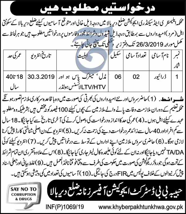Drivers Jobs in Upper Dir