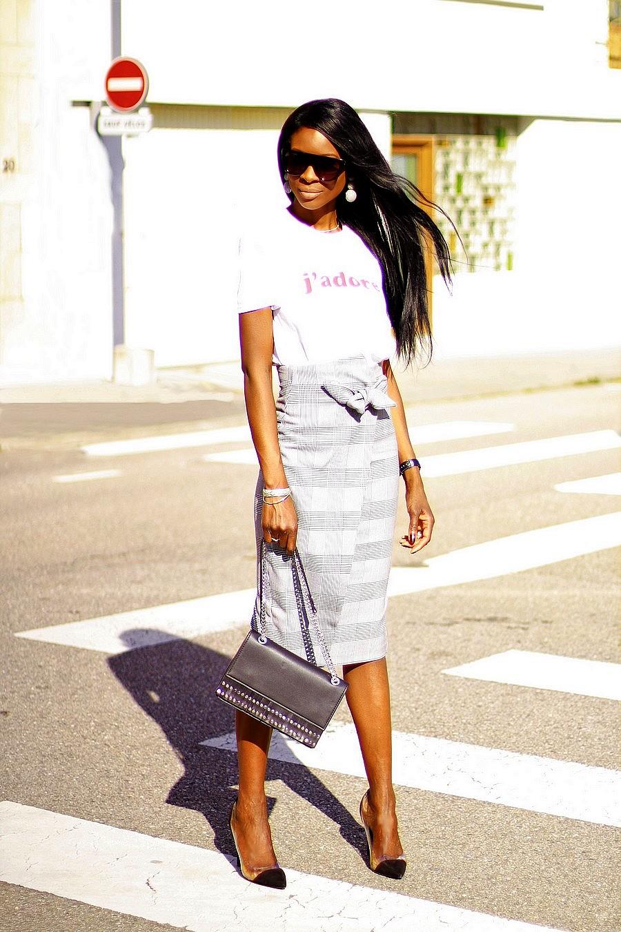 jupe-moulante-taille-haute-carreaux