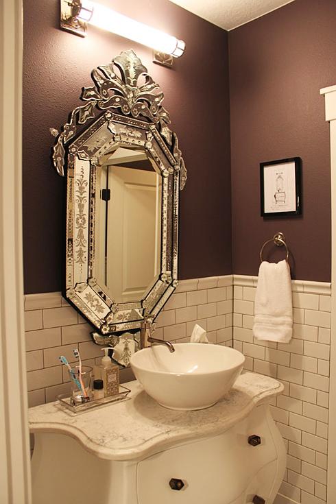 Muebles Para Baño Hechos En Casa:Un mueble de baño hecho a partir de una cómoda clásica