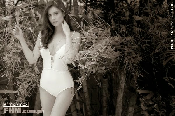 Max Collins flaunts swim looks for FHM Philippines March 2015